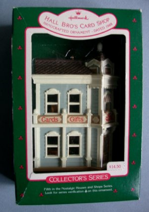 1988 Hallmark Ornament Hall Bro's Card Shop 5TH In Series