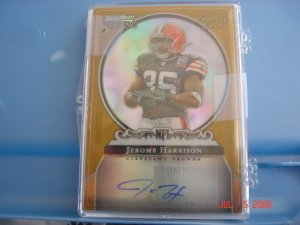 jerome harrison 2006 bowman sterling rc auto #d to 900