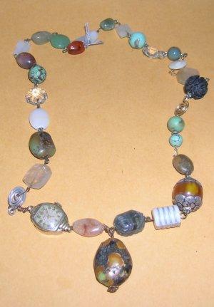Mixed Media Bead Necklace