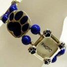 Blue Paw/Photo charm bracelet