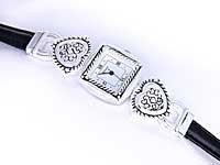 Black & Silver Brighton Look Heart Watch