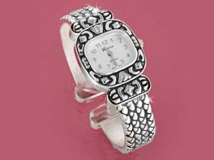 Silver Yurman Look Cuff Watch