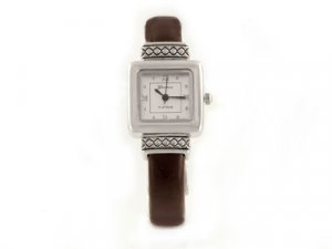 Brown & Silver Brighton Look Cuff Watch