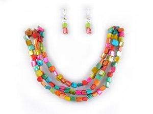 Bright Multi-Shell Necklace Set