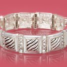 Silver Designer Look w/Crystals Bracelet