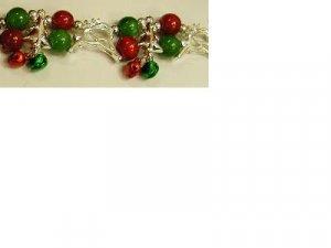 Small or Kid's Christmas Bracelet with Silver Look Reindeer