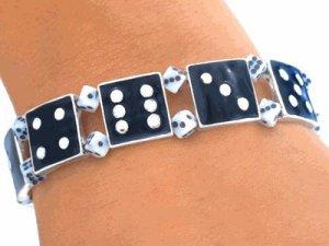 Bunco Bracelet -- Black Dice Link Bracelet