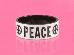 Black & White PEACE Bangle (LC)