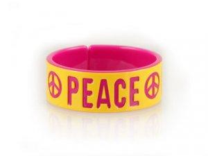 Yellow & Pink PEACE Bangle (LC)