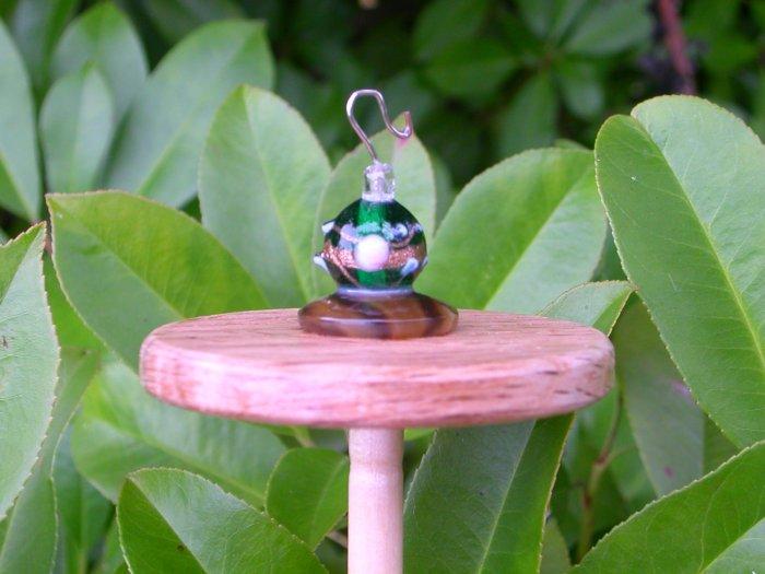 Glass Beaded Silk Flicker Top Whorl Drop Spindle           OOAK