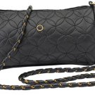 Ladies Black Quilted Evening Bag / Purse