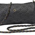 Ladies Black Quilted Evening Bag / Purse