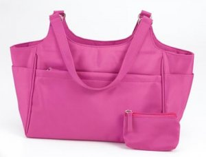 Embassy Pink Microfiber Purse with Coin Purse.