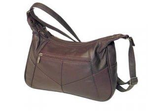 Embassy Genuine Leather Shoulder Bag in burgundy color.
