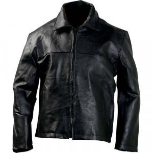 Casual Outfitters� Hand-Sewn Pebble Grain Genuine Leather Jacket