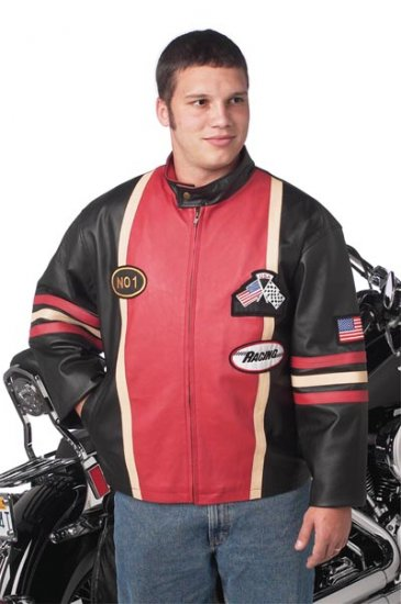 Diamond Plate SOLID Genuine Leather Racing Jacket
