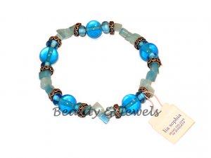 Lia Sophia BLUEBERRY Jade Chip Stretch Bracelet-RV $30
