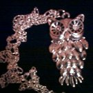 Silver-plated Owl Necklace.