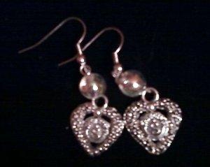 Shinning heart Earrings.