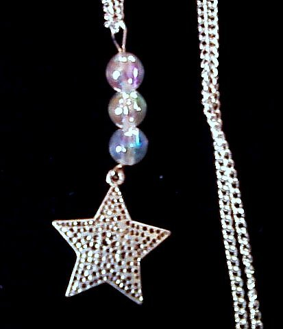 Silver-plated Star Necklace.