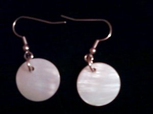 Ivory colored Mother of Pearl Earrings.