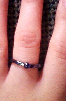 Cobalt Blue Beaded Ring.