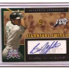 2005 FLEER NATIONAL PASTIME B.J. UPTON SWINGS AUTO