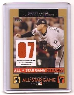 2007 Topps All Star Stitches Bobby Jenks Dual Jersey