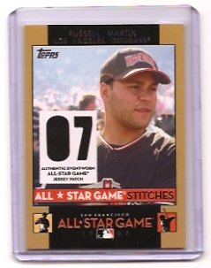 2007 Topps All Star Stitches Russell Martin  Dual Jersey