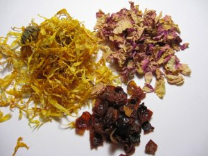 Calendula, Rose Hips and Rose Petal Bath Tea Bags