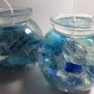Sea Glass Globes Gel Candles