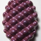 (Organic Melissa Absolute) Royal Purple Creamy Goats Milk Pine Cone Glycerin Message Soaps
