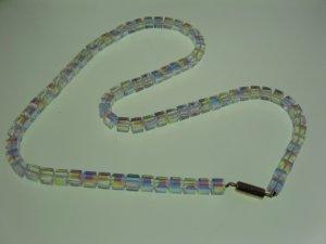 Crystal Cube Aurora Borealis Swarovski Crystal Necklace