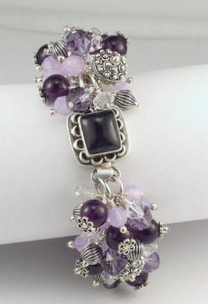 Sterling Silver and Amethyst Bracelet