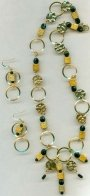 Gold Metallic Necklace Set