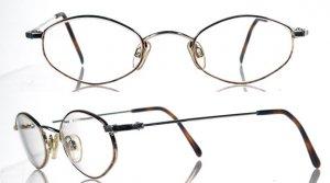 "CAPEZIO ""Paulina"" Gold and Tortoise Eyeglass Frames"