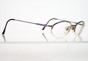 EMANUEL UNGARO Light Purple Metallic Semi-Rimless Frames