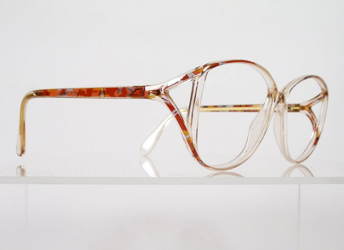 SILHOUETTE 1736 2829 Red Orange Abstract Eyeglass Frames