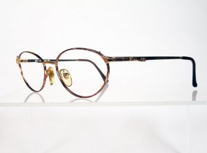GENNY 568 Gold and Tortoise Eyeglass Frames