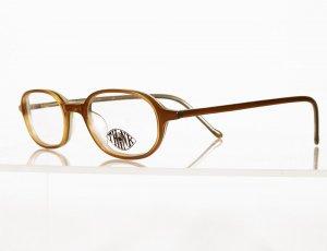 EYE THINK TG04 Golden Brown Eyeglass Frames