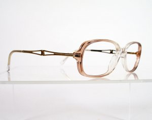 LUXOTTICA LU 4297 Rose and Gold Eyeglass Frames