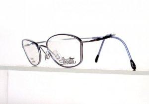 SILHOUETTE 6520 6050 Silver Flexible Titanium Eyeglasses w/ Case