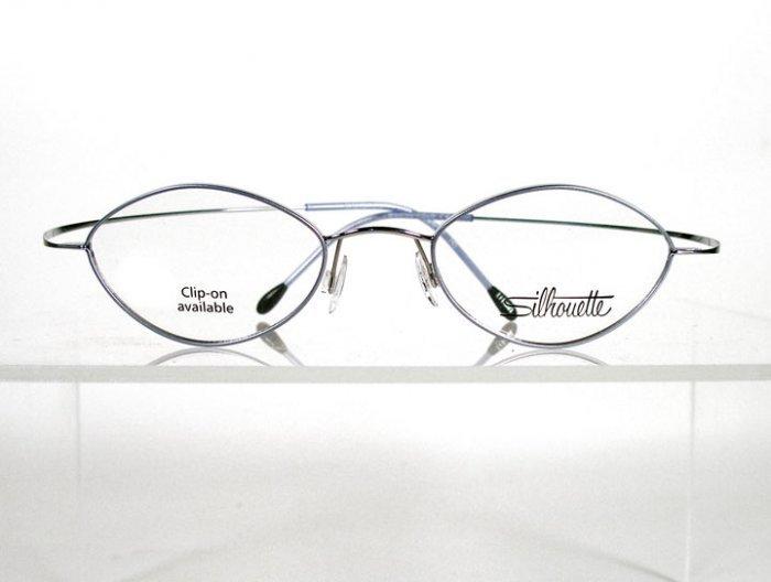 SILHOUETTE 6540 6050 Silver Flexible Titanium Eyeglasses w/ Case