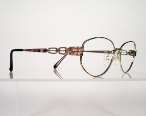 TURA 709 Tortoise and Gold Eyeglass Frames