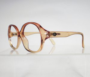TERRI BROGAN 8750 Golden Brown Fade Eyeglass Frames