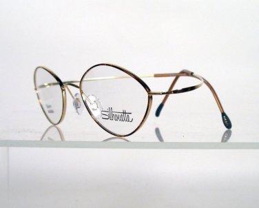 SILHOUETTE 6540 6051 Gold and Tortoise Flexible Titanium Eyeglasses w/Case