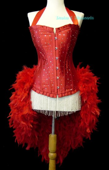 Size L-Custom Made Moulin Burlesque Showgirl Costume Pin Up Carnival Circus L