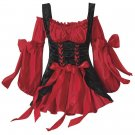 Red & Black  Renaissance Costume Dress S