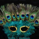Peacock Eye Feather Masquerade Mask
