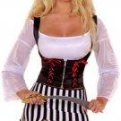 M/L Roma Costume Black & White Pirate Costume 6pc